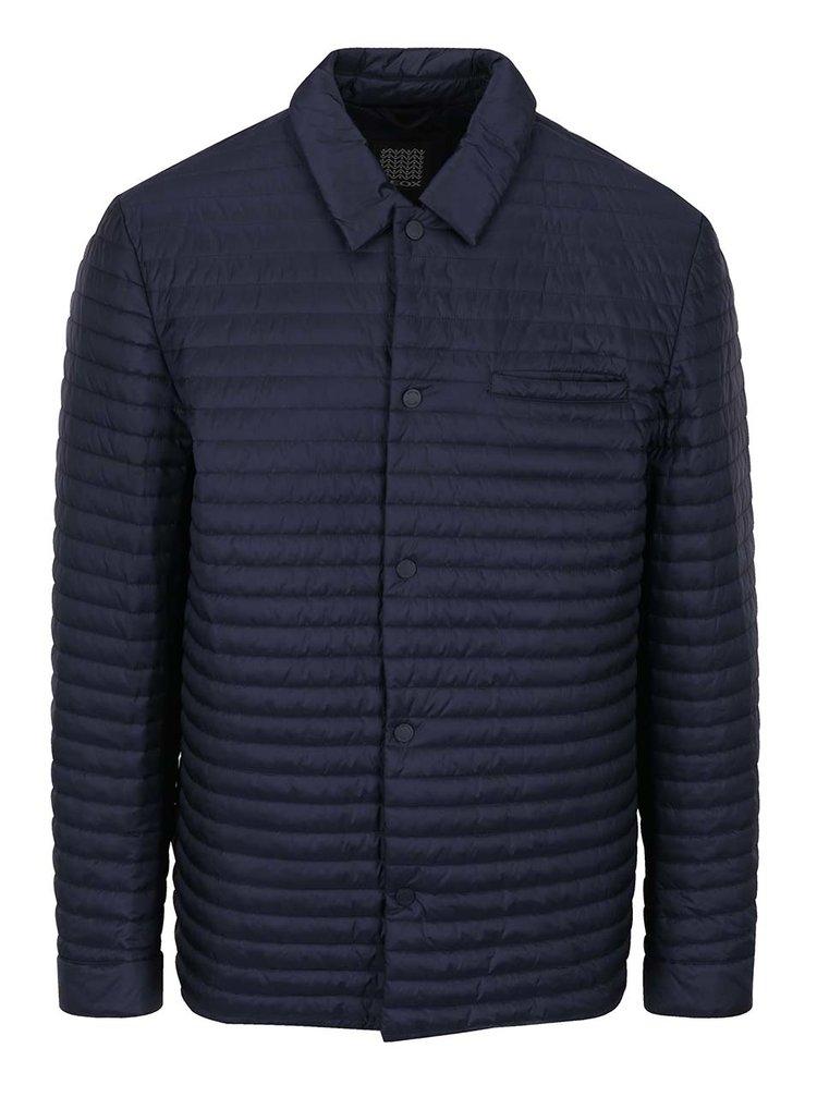 Jachetă bleumarin matlasată Geox