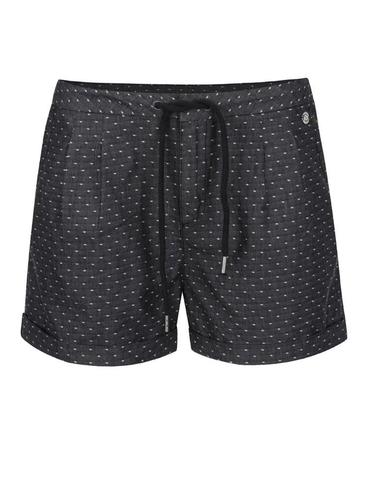 Tmavě šedé dámské puntíkované kraťasy Ragwear High Dots