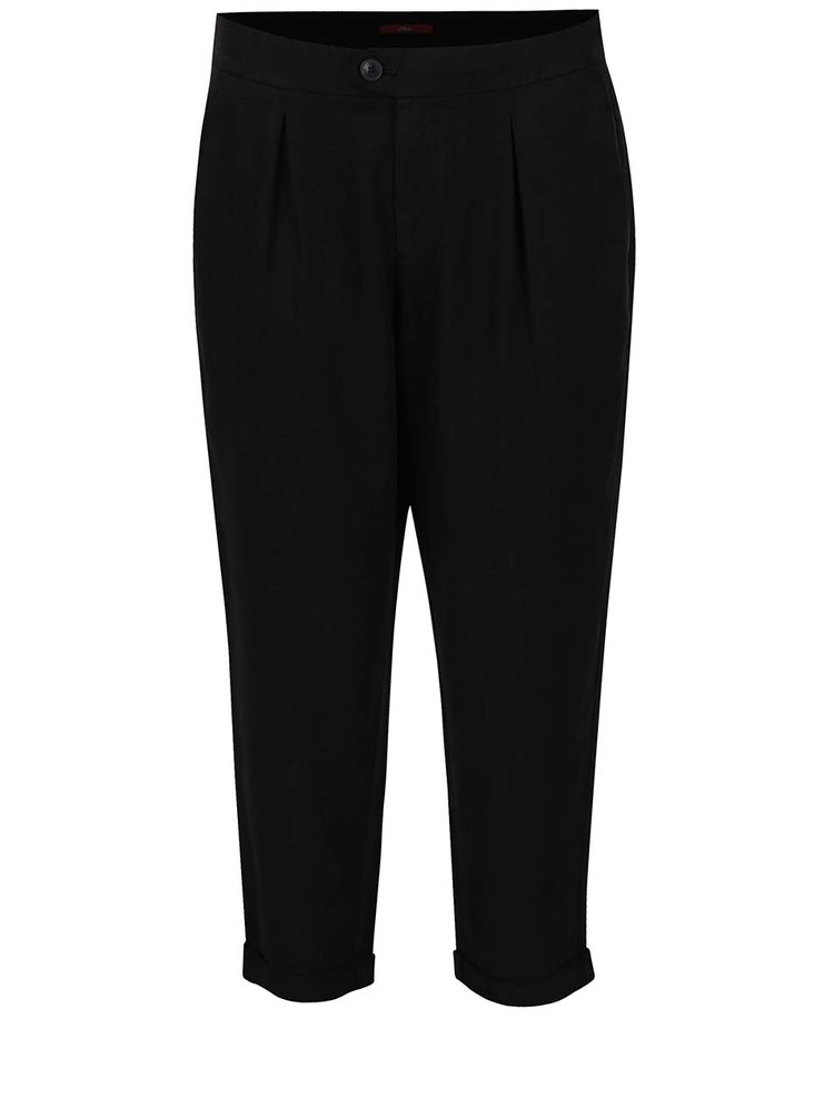 Pantaloni chino negri s.Oliver cu buzunare laterale