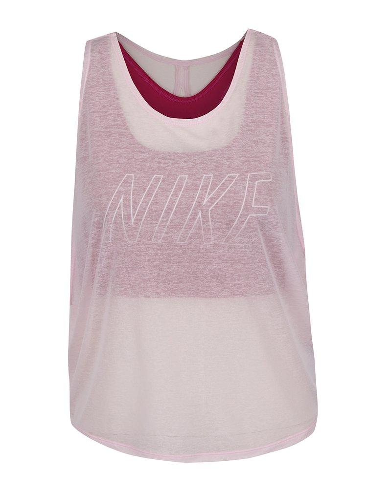 Maiou roz pal Nike Training cu aspect 2 în 1