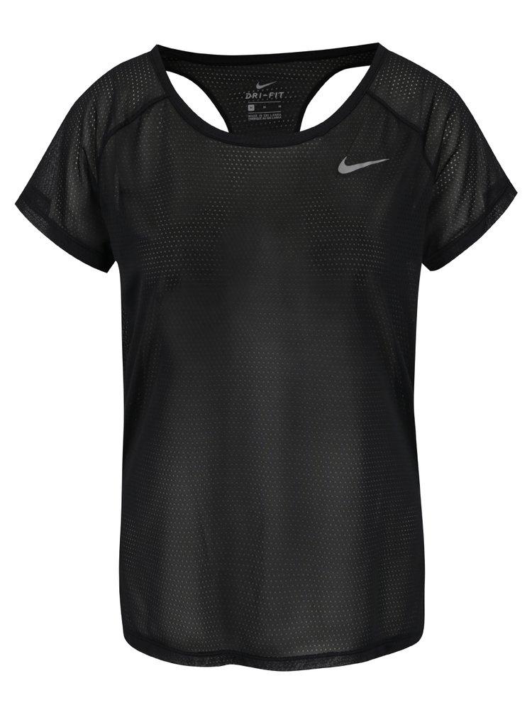 Tricou negru Nike cu decupaj pe partea din spate