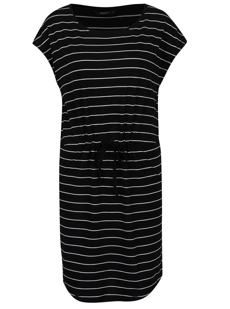 Černé pruhované šaty ONLY May