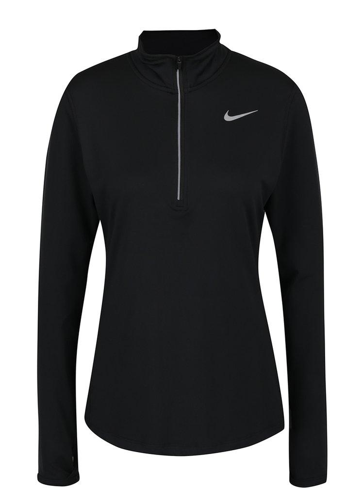 Černé dámské funkční tričko s dlouhým rukávem Nike