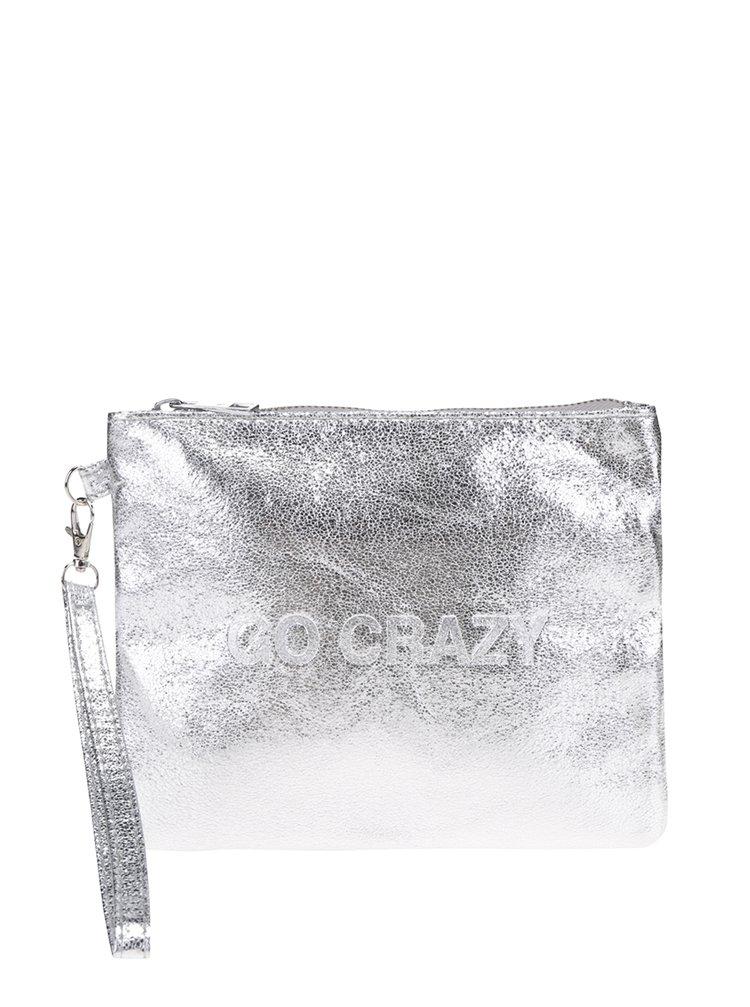 Lesklá listová kabelka v striebornej Farbe Haily´s Go Crazy