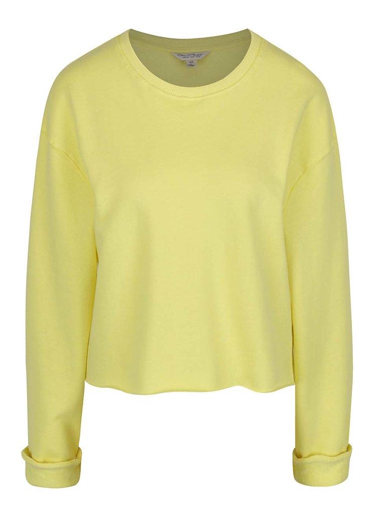 Bluză galbenă Miss Selfridge cu mâneci lungi