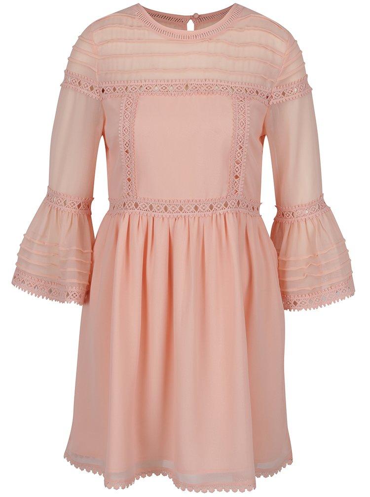 Rochie portocaliu deschis Miss Selfridge cu mâneci clopot