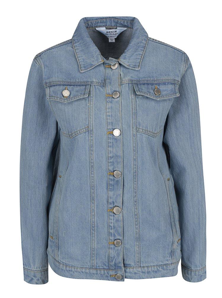 Jachetă albastru deschis din denim Miss Selfridge