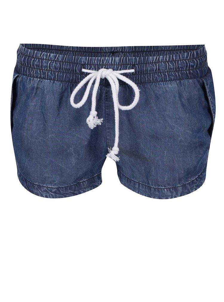 Modré džínové kraťasy s pružným pasem TALLY WEiJL