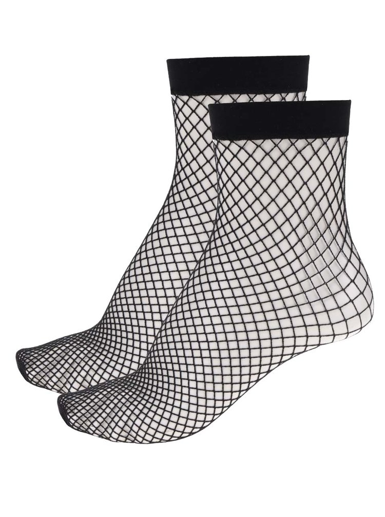 Set 2 perechi șosete negre  TALLY WEiJL tip plasă