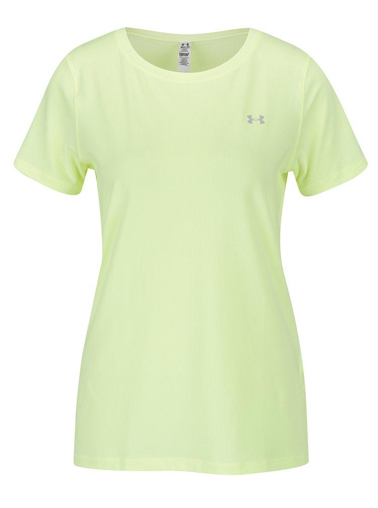 Žluté dámské funkční tričko s krátkým rukávem Under Armour HG Armour SS