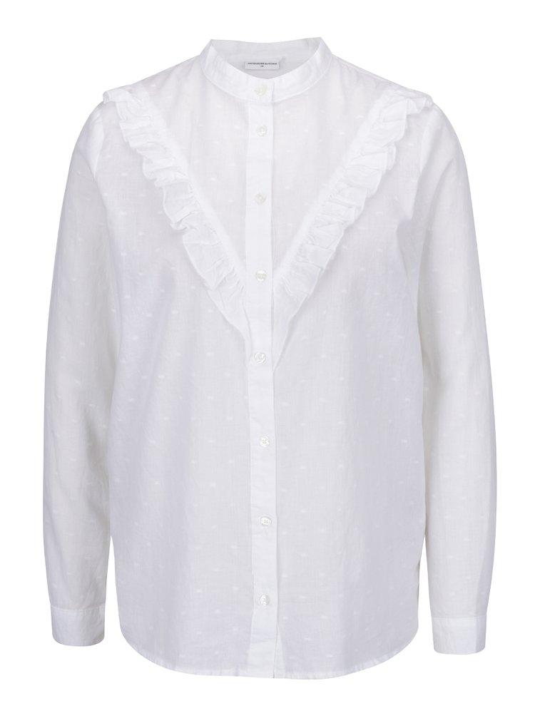 Bílá vzorovaná košile s volánem Jacqueline de Yong Futura
