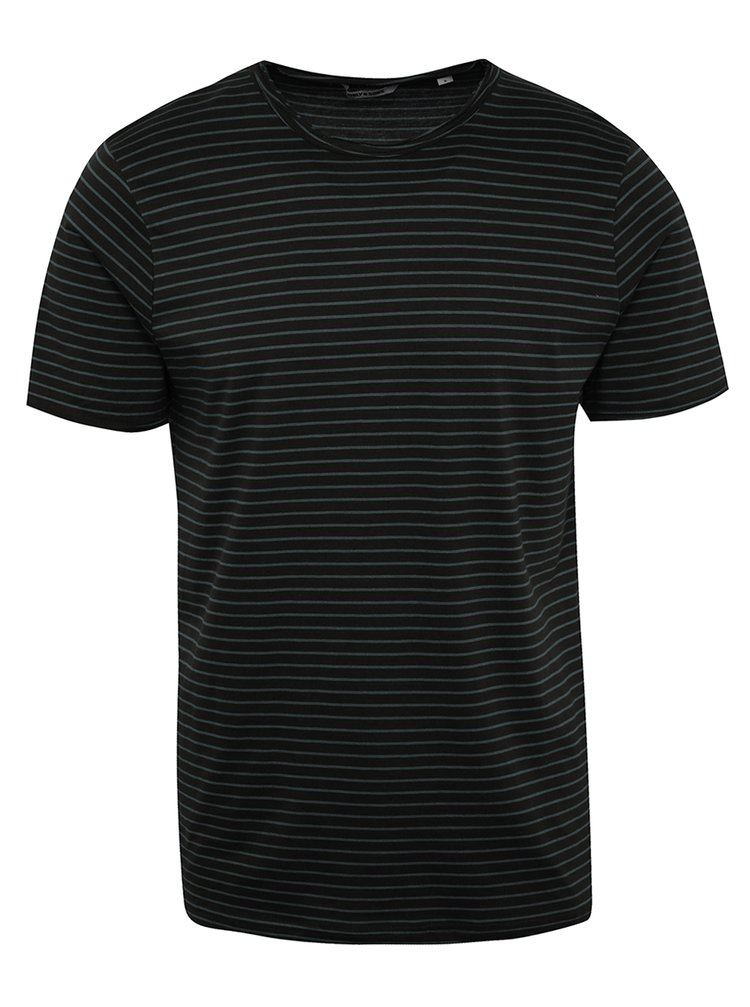 Modro-černé pruhované triko ONLY & SONS Albert Stripe