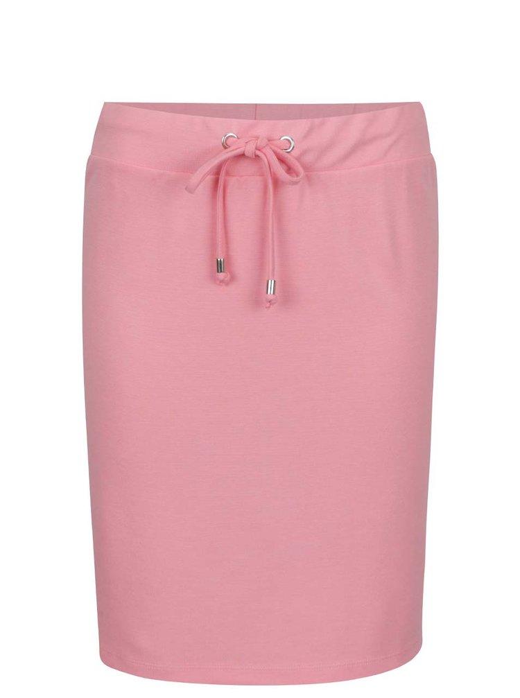 Fustă roz cu șiret în talie VILA Hasa
