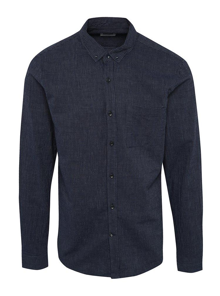 Tmavě modrá pruhovaná košile ONLY & SONS Vert