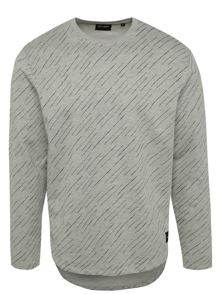 Bluză gri  ONLY & SONS Vancu model discret
