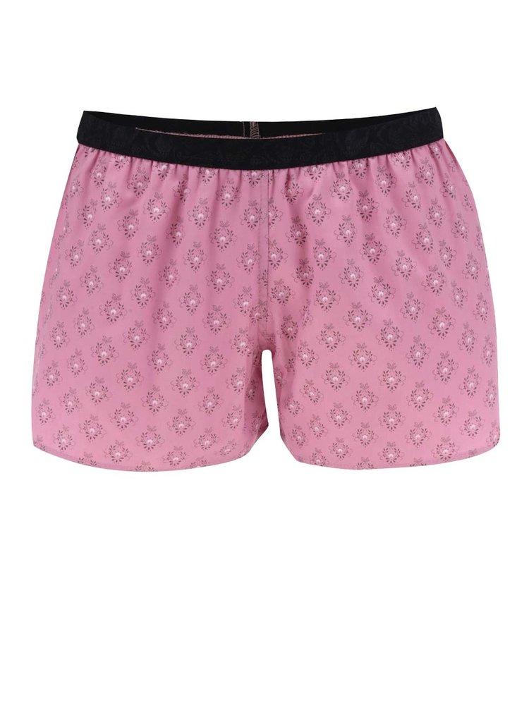 Boxeri roz cu print Represent