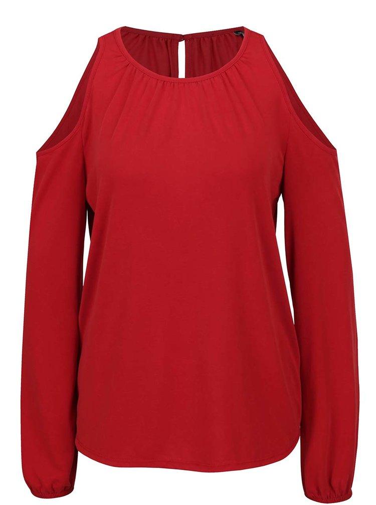Bluză roșie ONLY Tula cu decupal pe umeri