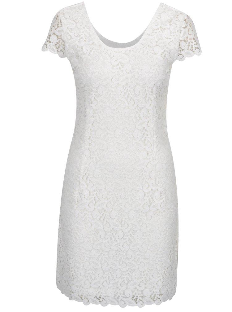 Bílé krajkové šaty ONLY Sassy