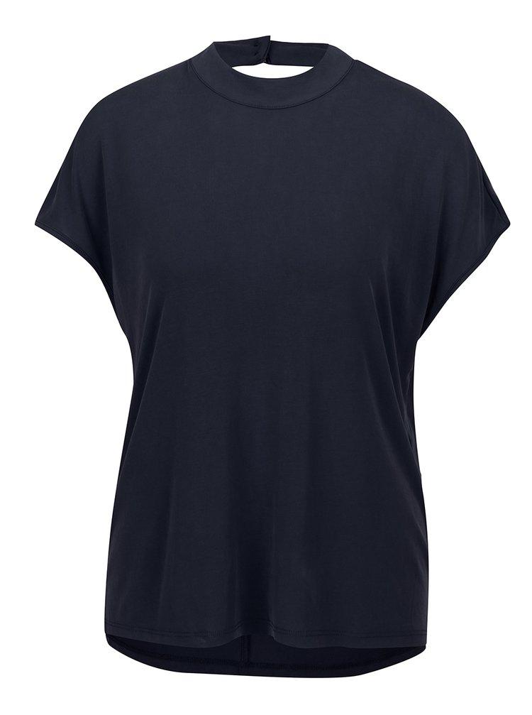 Tricou albastru inchis ONLY Tula cu decupaj la spate