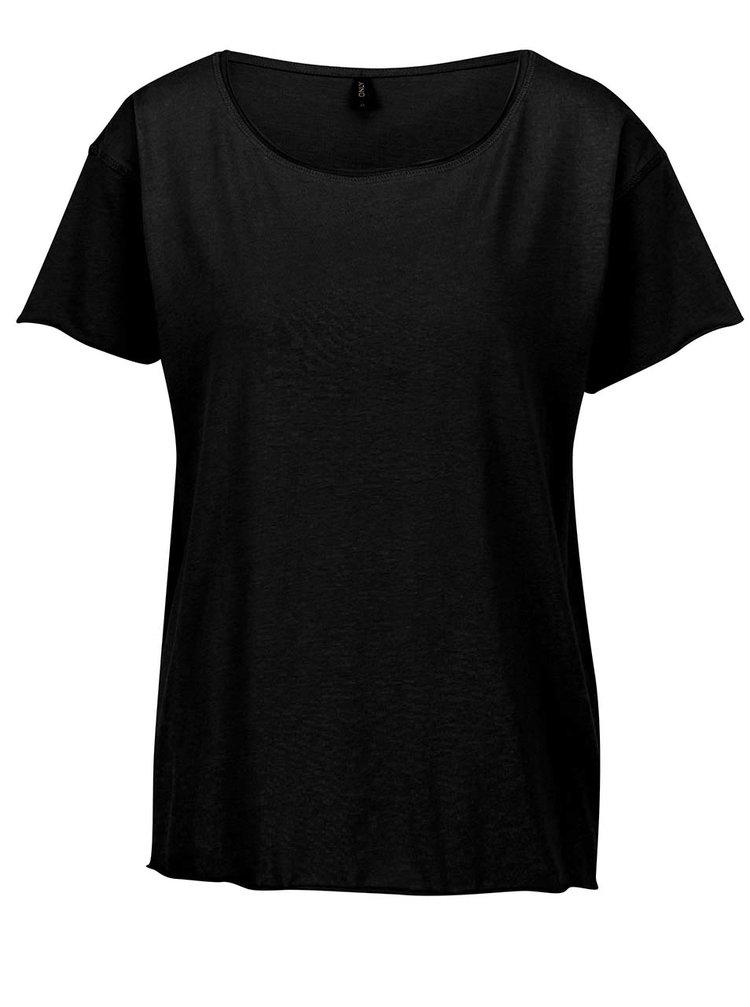 Černé basic tričko s krátkými rukávy ONLY Vivi