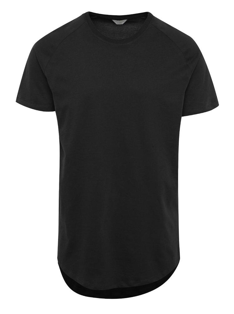 Černé basic tričko s krátkým rukávem Jack & Jones Corafe