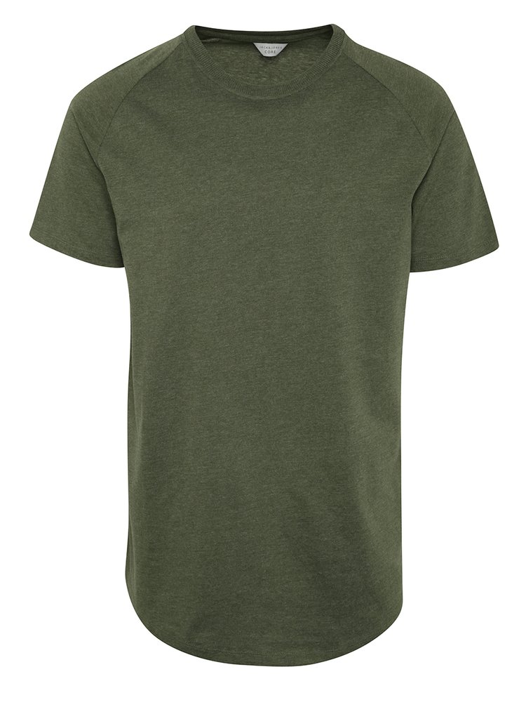Khaki tričko s krátkým rukávem Jack & Jones Corafe