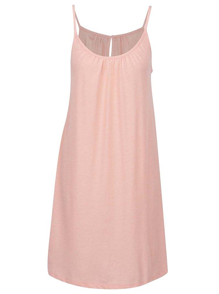 Růžové šaty s průstřihem na zádech VERO MODA Happy