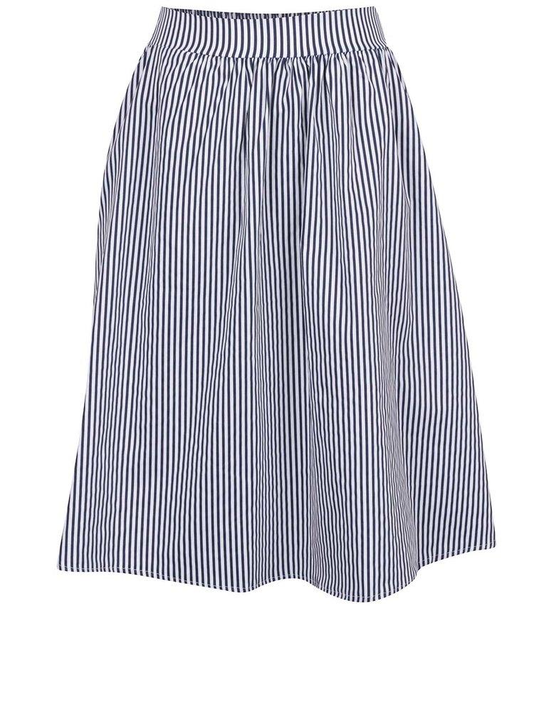 Krémovo-modrá pruhovaná sukně ZOOT