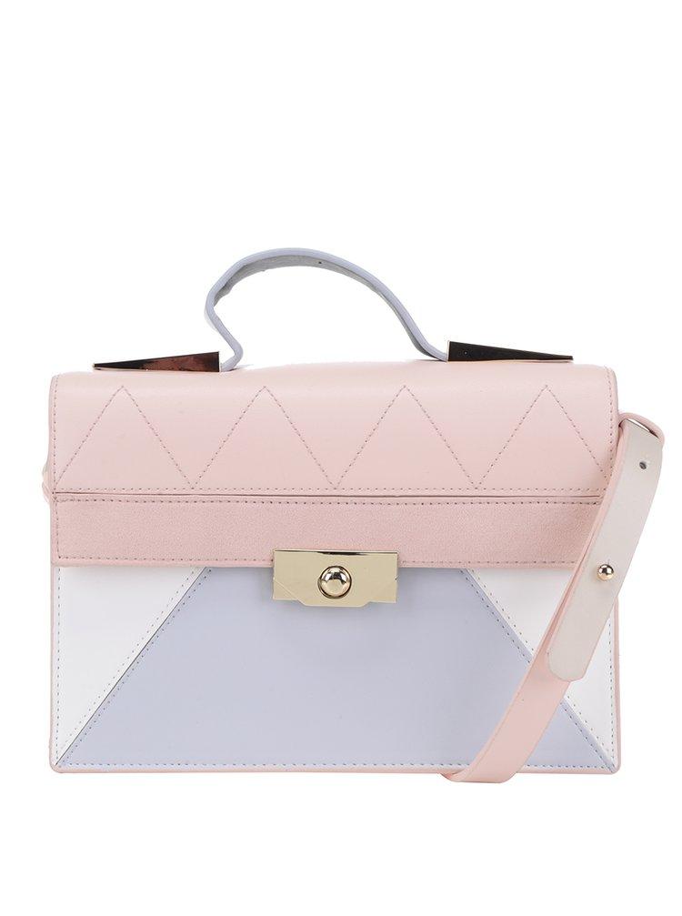Geantă roz pal Dorothy Perkins cu model geometric