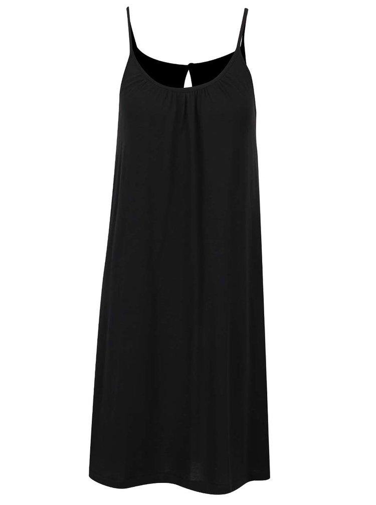 Černé šaty s průstřihem na zádech VERO MODA Happy