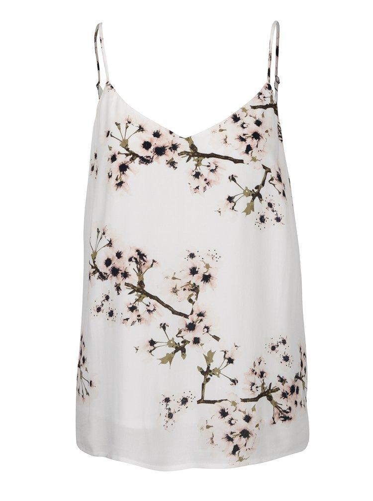 Top alb fildeș cu model floral VERO MODA Occasion