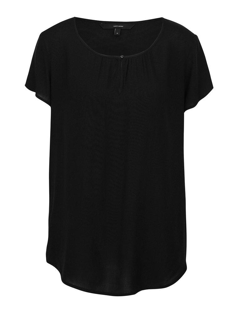 Bluză neagră lejeră VERO MODA Sally