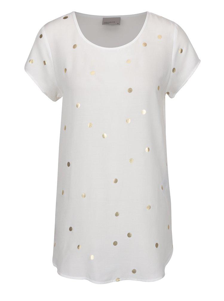 Bluză alb fildeș cu buline aurii VERO MODA Boca
