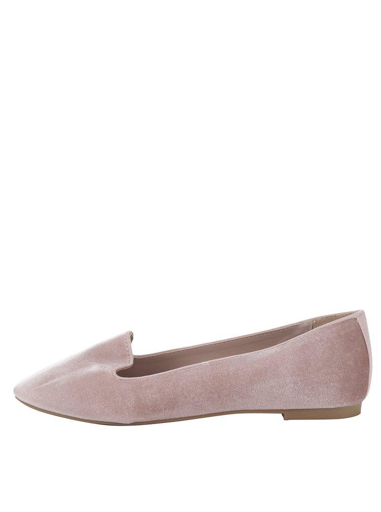 Balerini roz prăfuit cu aspect catifelat Dorothy Perkins