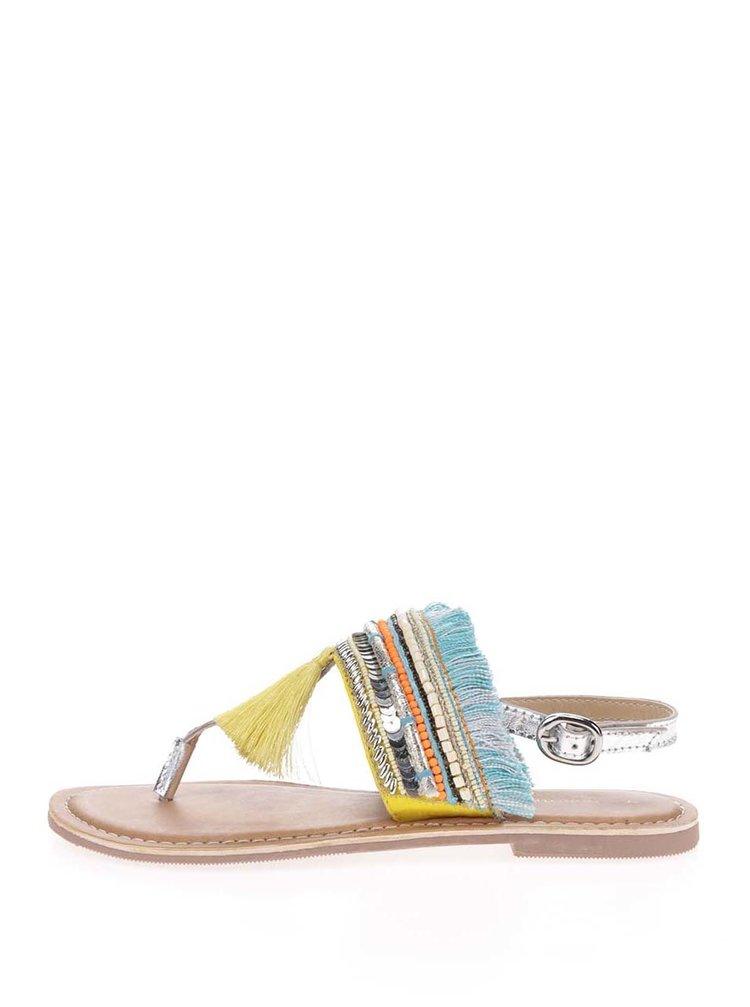 Žlté sandále so zdobením Dorothy Perkins