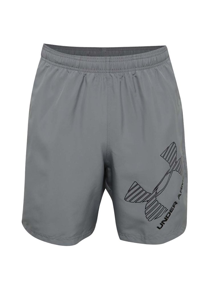 Pantaloni scurți sport gri Under Armour 8 Woven Graphic Short pentru bărbați