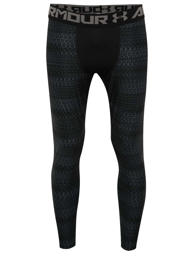 Colanți negri cu print pentru bărbați Under Armour HG Armour 2.0 Novelty Legging