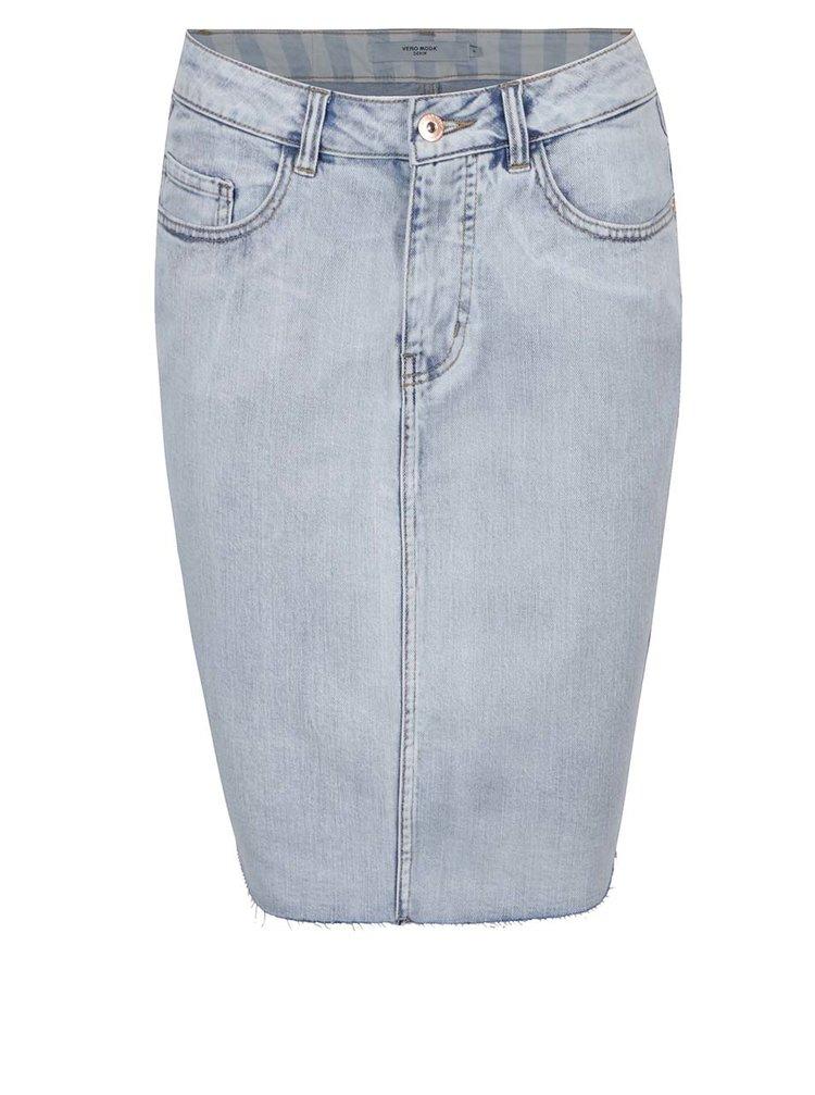 Modrá džínová sukně VERO MODA Nine