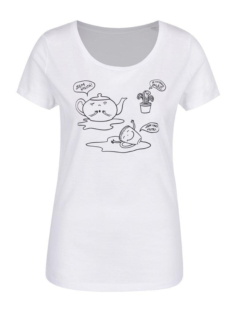 Bílé dámské tričko ZOOT Originál Jsem vylitá
