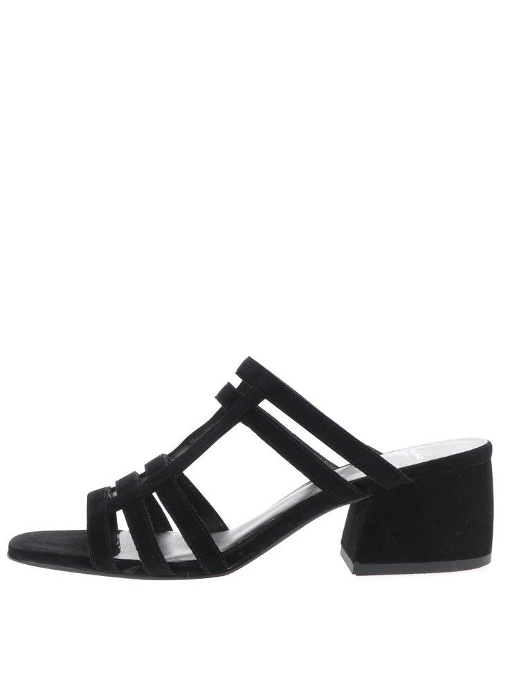 Černé dámské semišové sandály na podpatku Vagabond Saide