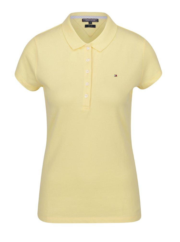 Žluté dámské polo tričko s krátkým rukávem Tommy Hilfiger
