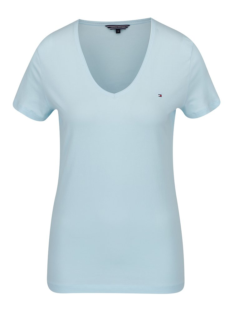 Modré dámské tričko s krátkým rukávem Tommy Hilfiger