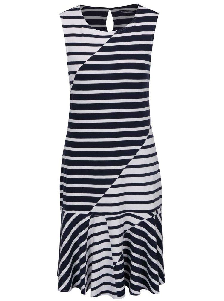 Tmavě modré dámské pruhované šaty Tommy Hilfiger