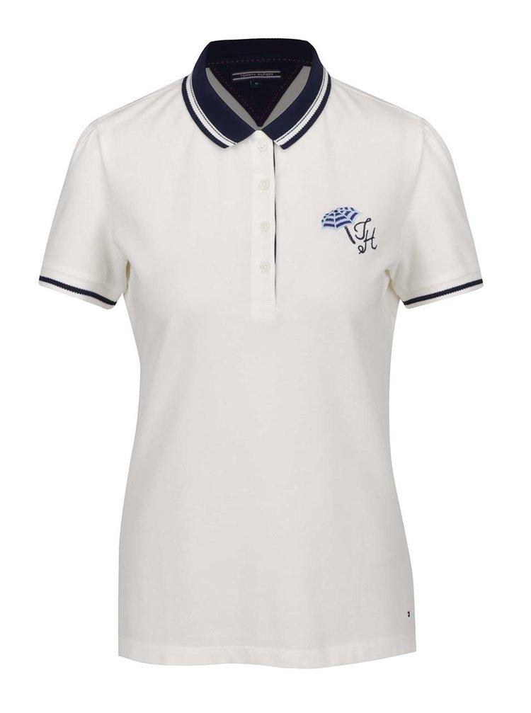 Krémové dámské polo tričko Tommy Hilfiger