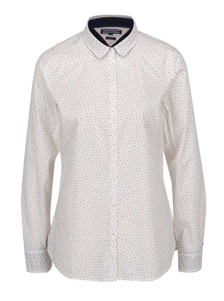 Bílá dámská košile se srdíčky Tommy Hilfiger