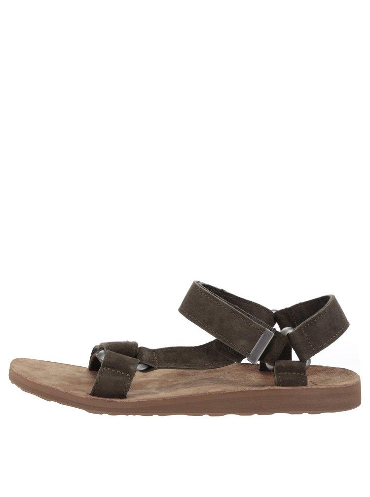 Sandale maro & verde Teva din piele naturală