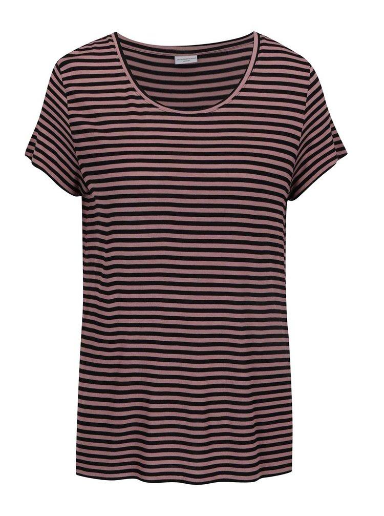 Růžovo-černé pruhované tričko Jacqueline de Yong Spirit