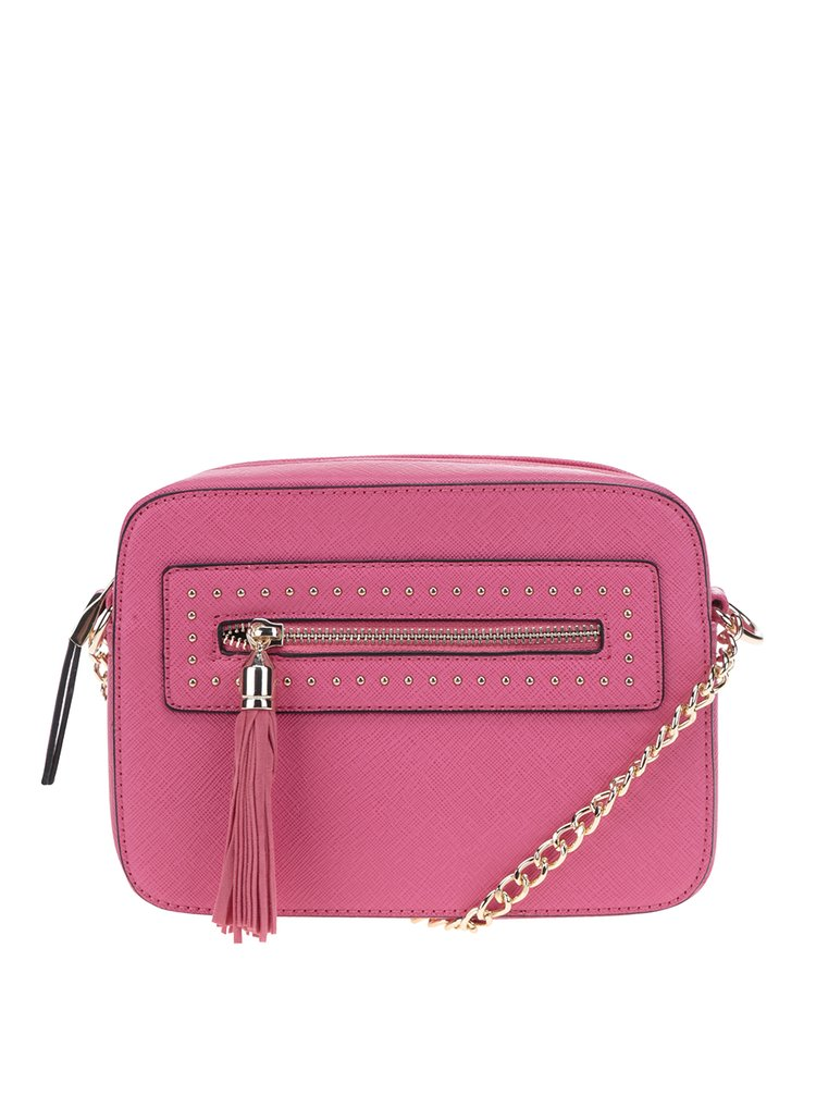 Geantă crossbody roz Miss Selfridge