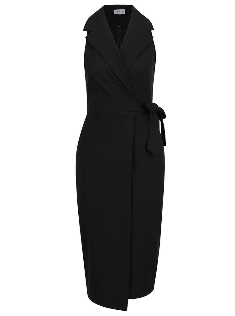 Rochie neagră Closet cu croi suprapus