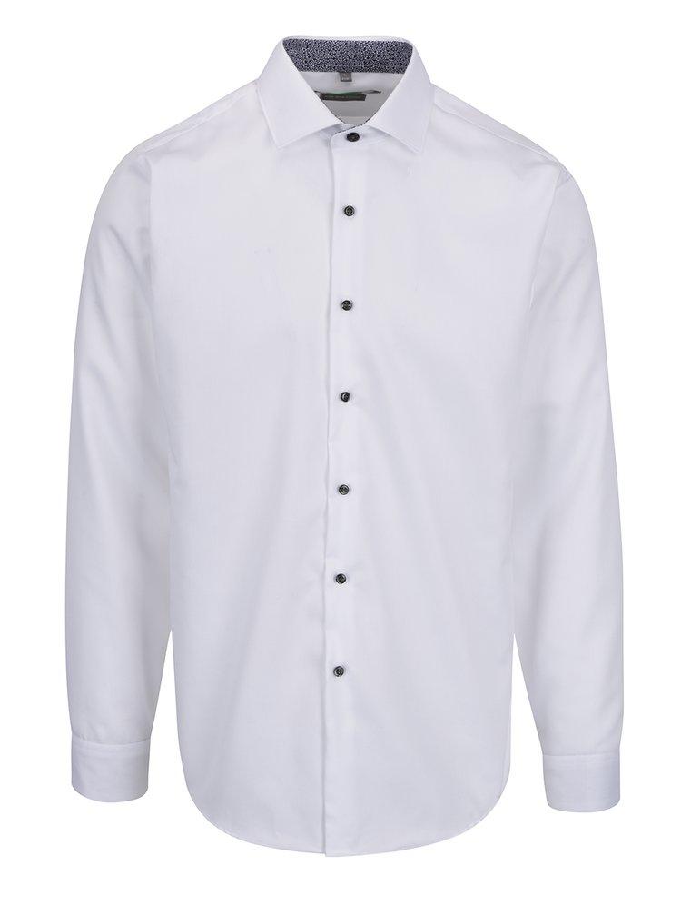 Bílá formální slim fit košile Seven Seas Sunflower
